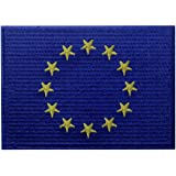 Bandiera dell'Unione Europea UE dell'Europa Emblema Internazionale Termoadesiva Cucibile Ricamata Toppa