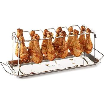 barbecook Grillzubehör, Hähnchenschenkel-Halter, grau, 38 x 16 x 2 cm, 2236140000
