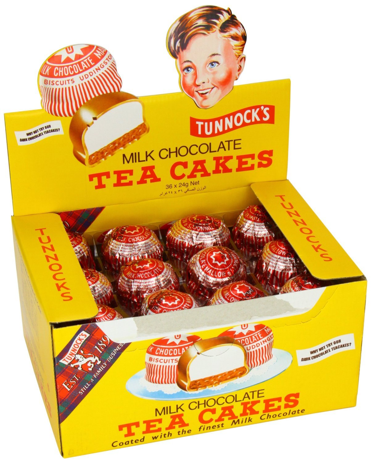 Tunnock S Tea Cakes Dark Chocolate