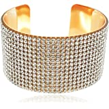 YouBella Fashion Jewellery Gold Plated Crystal Studded Bangle Bracelet for Girls and Women