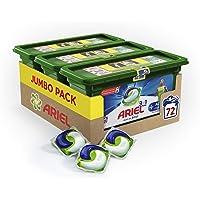 Ariel Pods+ Active Anti-odeur - Lessive Doses - 72 lavages (3x24 Capsules)