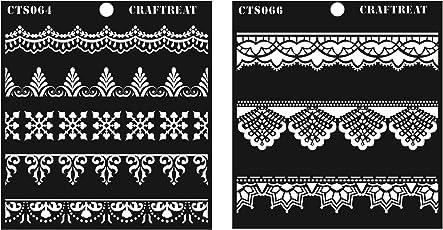 """CrafTreat Stencil Lace & Ornate Borders 6""""X6"""""""