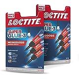 Loctite Super Glue - 3 Mini Trio, pegamento universal con triple resistencia, adhesivo transparente, pegamento instantáneo y