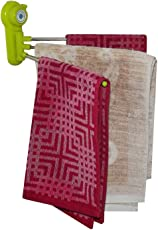 GosFrid 3 Layer Hanger Power Towel Rack with 180° Swivel and Magic Suction for Kitchen and Bathroom, Small (Multicolour)