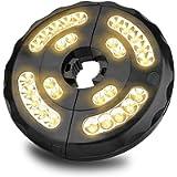 Parasol Lights, Patio Umbrella Light, Cordless 28 LED Umbrella Lights with 3 Lighting Modes, 4 AA Batteries Powered/USB…