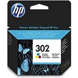 HP 302 F6U65AE Cartuccia Originale per Stampanti a Getto di Inchiostro, Compatibile con DeskJet 1110, 2130 e 3630, HP…