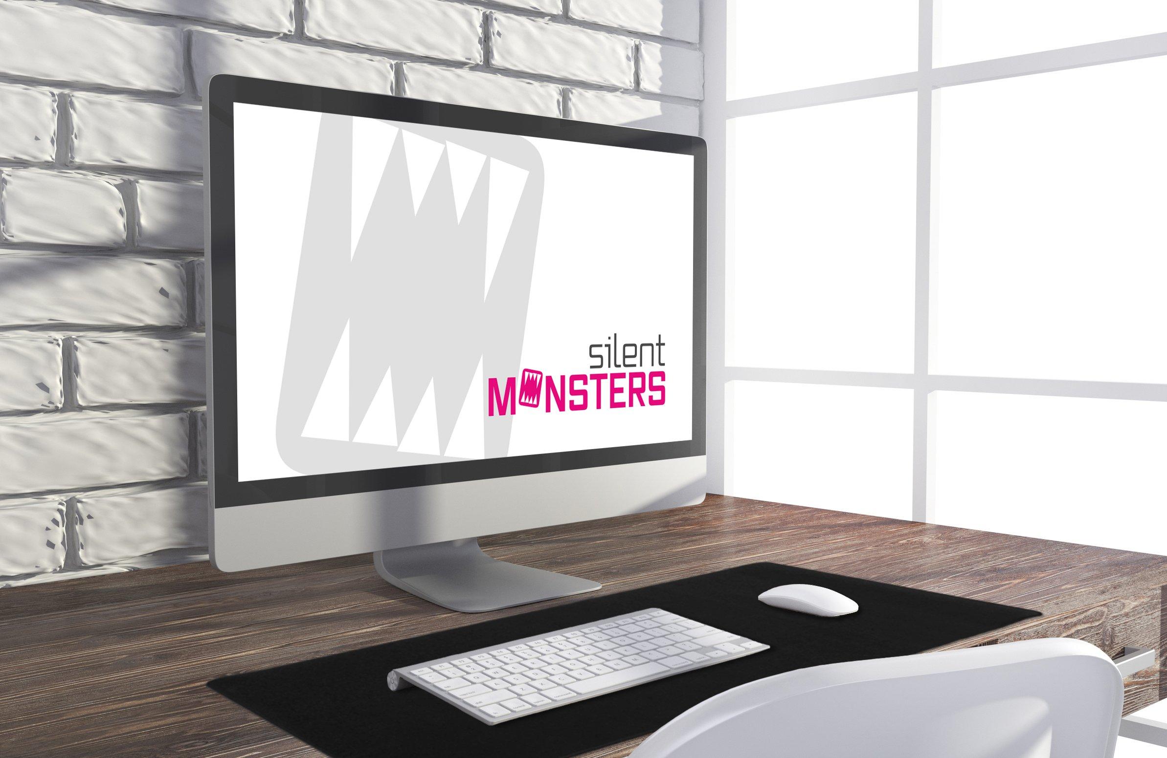 Taglia Fogli Per Ufficio : Silent monsters tappetino per mouse adatto per gaming e ufficio
