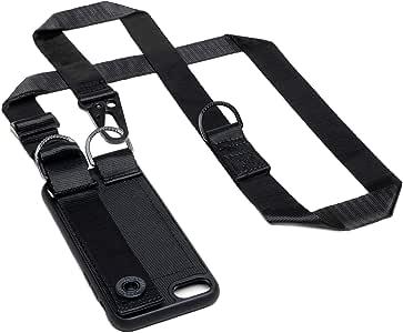 Jalouza Handykette UrbanXBody kompatibel mit Apple iPhone X/XS, Handytasche zum Umhängen mit Kartenhalter, Fingerhalter und Schlüssel-Anhänger, Smartphone Halter mit Halsband