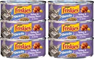 Purina Friskies Purina Shreded Turkey and Cheese Wet Cat Food Can 156g (6 Cans)