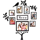 PAPER PLANE DESIGN Family Tree Collage Photo Frames for Wall Decor Set (Style-7)