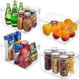 Zabatoco Boîte de Rangement Frigo Organiseur Frigo Transparent Cusine Lot de 4, Boîte Alimentaire en Plastique pour Réfrigéra