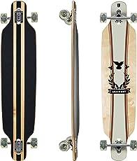 """Clamaro Longboard """"APEX"""" 43 Inch Komplettboard aus 9 Lagen Ahornholz Deck mit ABEC 7 Kugellagern, 85A Rollen und Griptape"""