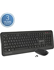Amkette Wi-Key Plus 2.4 GHz USB wireless keyboard & mouse combo for PC, Laptop and Devices with USB Support (Black)
