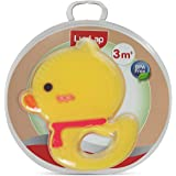 LuvLap Silicone Teether, Yellow Duck, 3m+, BPA Free