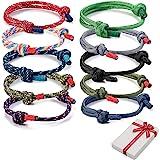 Set di braccialetti intrecciati da 10 pezzi per uomo donna, braccialetto da surf nautico colorato in corda marina per uomo uo