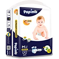 Papimo Baby Pants Diapers with Aloe Vera, Medium, 40 Count