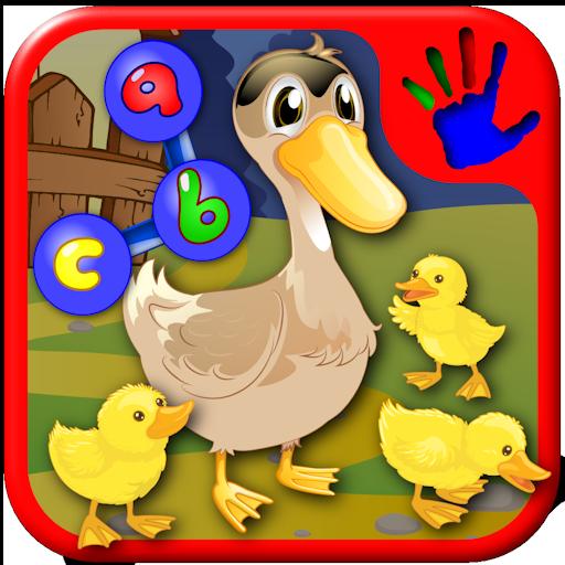 ABC Farm prescolare e animale Iscriviti il Dot puzzle - insegna ai bambini le lettere numeri e forme adatto a bambini piccoli e bambini asilo