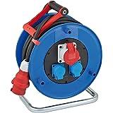 Brennenstuhl Garant CEE 1 IP44 kabelhaspel, voor industriële en bouwplaatsen, 30 m kabel in zwart, speciale kunststof, gebrui
