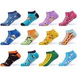 WeciBor - Calzini alla caviglia in cotone pettinato, 12 pezzi, colore: Paris