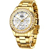 Montre chronographe étanche en acier inoxydable avec date analogique à quartz, tendance, affaires, pour homme
