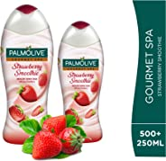 Palmolive Shower Gel Cream Gourmet Spa Strawberry, 500ml + 250ml