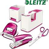Leitz WOW Schreibtisch Accessoires (Komplett - Set, Weiß │ Pink)