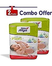 Little Angel Baby Diaper Pants, Medium (2 X Pack of 56)