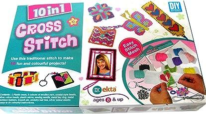 Dhinchak (Tm) Artbox 10 In 1 Cross Stitch Game For Girls - Multi Color