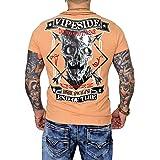 Men's Tattoo T-Shirt Skull with Print