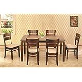 HomeTown Beldon Six Seater Dining Table Set  Wenge