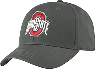 Top of the World NCAA Ohio State Buckeyes Men's Fitted Relaxed Fit Charcoal Icon Hat, Charcoal