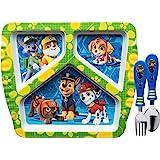 مجموعات أدوات المائدة للأطفال PWPB-2071 من زاك ديزاينز، أطباق + أدوات مسطحة، باو باترول بوي 3 قطع