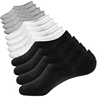 Closemate No Show Socks Mens Women with Anti-Slip Silicone Stripes, 3/6 Pairs Trainer Invisible Low Cut Casual Socks