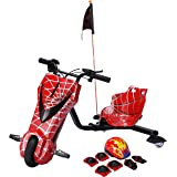 Toy&Joy Drifting Electric Scooter Red with Helmet Pad Set, Knee and Elbow Pads 36V, KD06