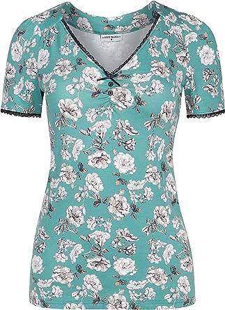 Vive Maria Green Bouquet - Maglietta a maniche corte, colore: Verde