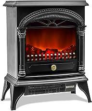 Flieks® Elektrischer Kamin Mit Heizlüfter Und Kaminfeuer Effekt 1900W  Elektro Elektrischer Kamin Ofen Heizung Heizer