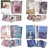 Kit 220 Feuilles Autocollants Papier Washi Autocollants Journal de Fleurs Beaux Paysages Autocollants Adhésifs Décoratifs Bri