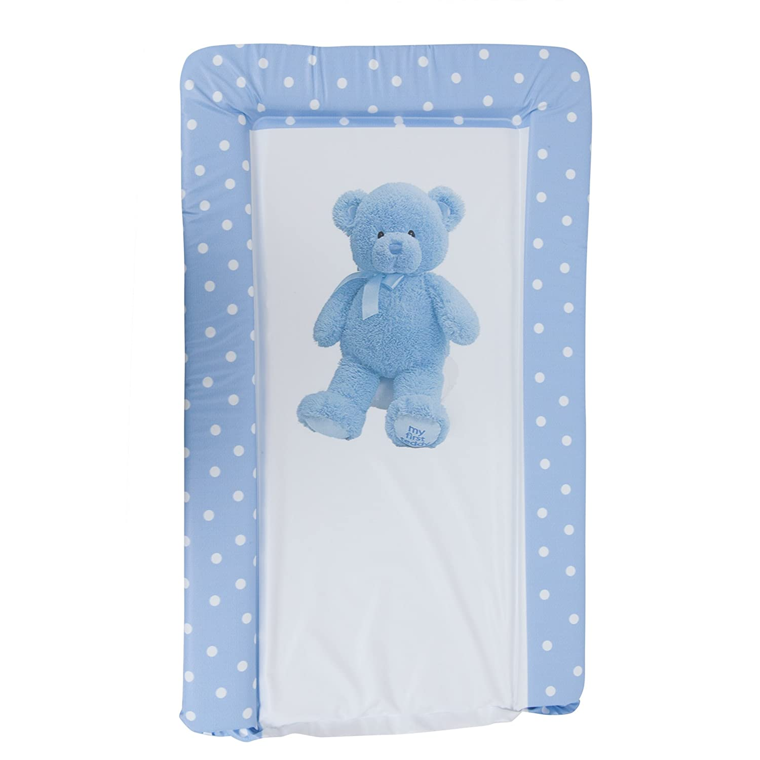 baby teddy bear deluxe padded easy clean changing mat boy u0026