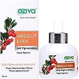 OZiva Absolut Even Anti-Pigmentation Face Serum (with Phyto Niacinamide, Phyto Alpha Arbutin, Aloe Vera & Rosemary) for Hyper