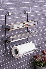 Lifetime 3 In 1 Kitchen Triple Paper Dispenser & Holder/ Wrap Aluminium Foil & Kitchen Roll