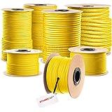 Seilwerk STANKE gevochten touw van polypropyleen GEEL zeilen touw, koord - 12mm, 10m