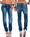 Cipo & Baxx Damen Jeans Hose Hüftjeans Skinny Slim Fit Stretch Röhre Freizeithose