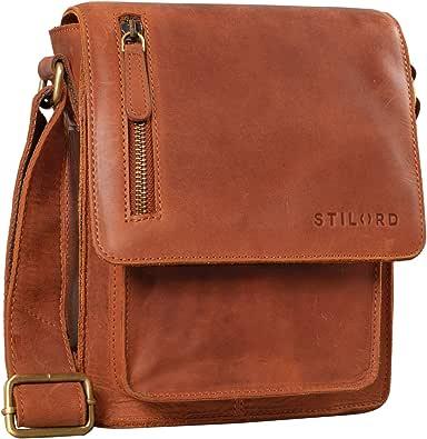 STILORD 'Finn' Borsello da uomo in vera pelle Borsa a tracolla per Tablet da 8, 4 pollici in cuoio Resistente borsetta messenger stile vintage di qualità