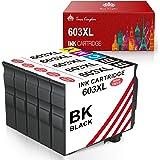 Toner Kingdom 603XL Cartucho de Tinta Compatible para Epson 603 603XL para Epson Expression Home XP-2100 XP-2105 XP-3100 XP-3