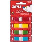 APLI 12483 - Índices adhesivos zig-zag (45 x 12 mm), film ZigZag colores surtidos
