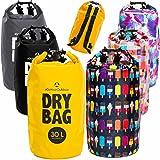 Drybag in 2L 5L 10L 20L 30L o. 40L – 100% wasserdichter Packsack / Seesack / effektiver Schutz gegen Staub Sand Wasser & Schmutz für Kajak Kanu Segeln Angeln Schwimmen Beach Wassersport Tauchausflüge