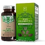FS Saw Palmetto Serenoa Repens 240 Capsule Vegane da 3000mg con Zinco | Capsule per la Salute della Prostata | Integratore per capelli | Senza OGM e Prodotto nel Regno Unito