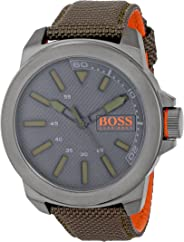 BOSS Orange Men's 1513009 New York Analog Display Quartz Green Watch