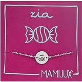 MAMIJUX bracciale ZIA a bottoncino dedicato alle Zie, in acciaio con una caramella incisa