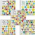 MOKIU Grandes Gommettes Enfant Autocollants Stickers Colorés pour Scrapbooking, Loisirs Creatifs, Materiel Activites Manuelle